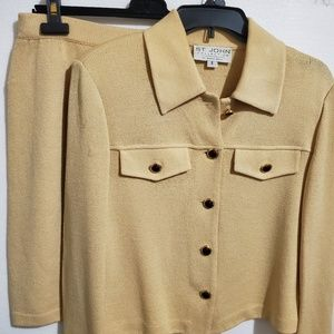 Yellow St. John Knit 2pc.Skirt Suit Mixed Sizes